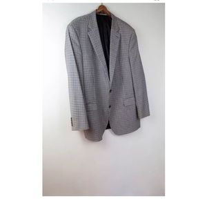 Peter Millar wool check sport coat jacket 46T 46 T